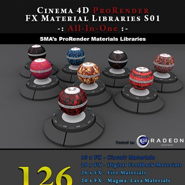 126 ProRender PBR FX Materials for Cinema 4D