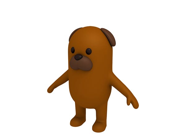 Brown Dog Character - 3DOcean Item for Sale