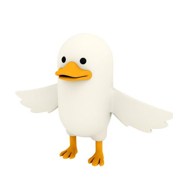 White Duck Character