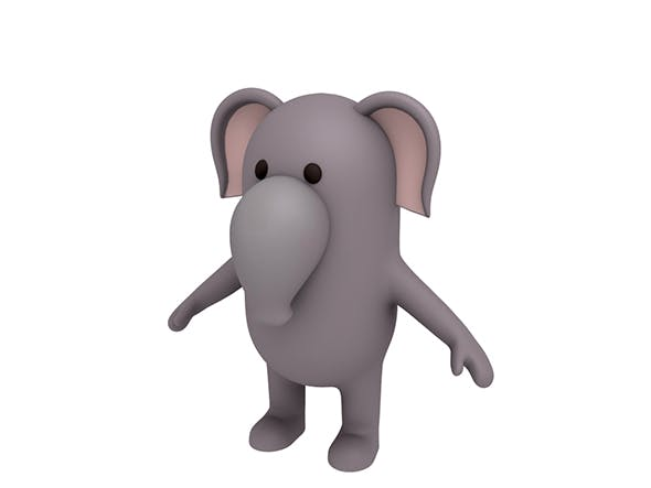 Elephant Character - 3DOcean Item for Sale