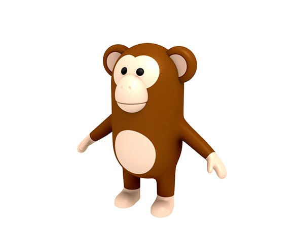 Monkey Character - 3DOcean Item for Sale