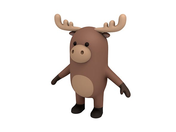 Moose Character - 3DOcean Item for Sale