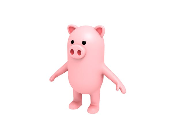 Pig Character - 3DOcean Item for Sale