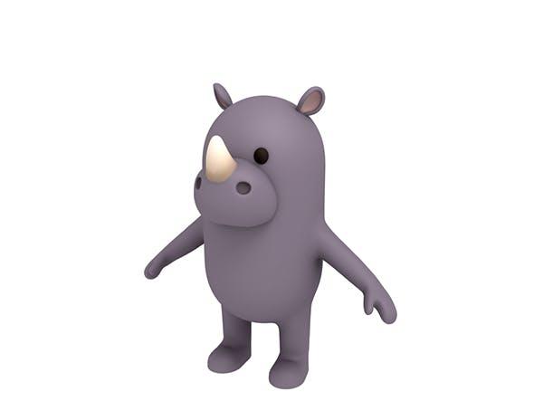 Rhinoceros Character - 3DOcean Item for Sale