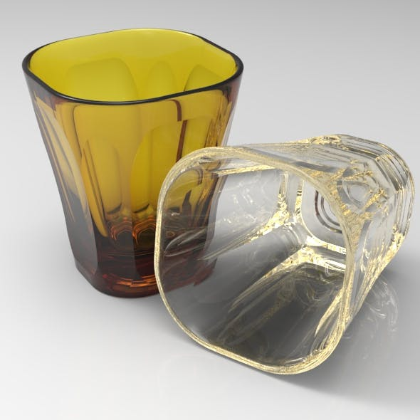 Rounded Squared Standard Glass - 3DOcean Item for Sale