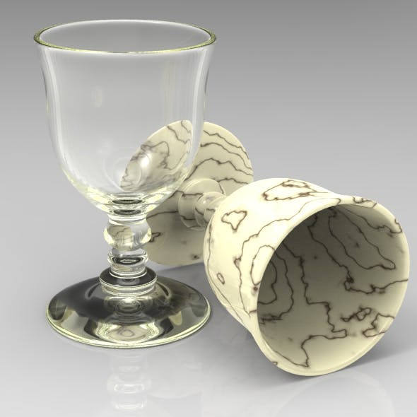 Clssical Wine Glass - 3DOcean Item for Sale