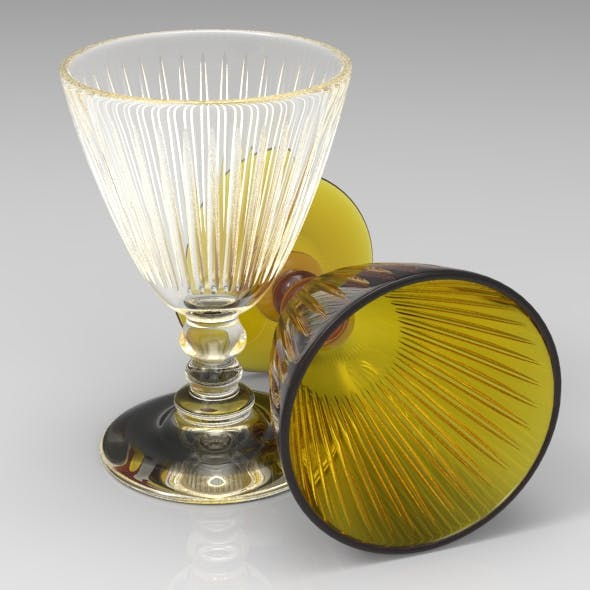 Classical Wine Glass with Facets - 3DOcean Item for Sale