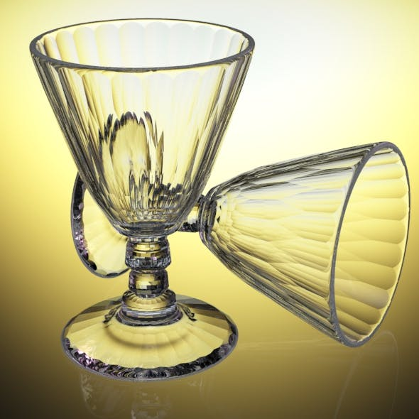 Crystal Multifacet Wine Glass