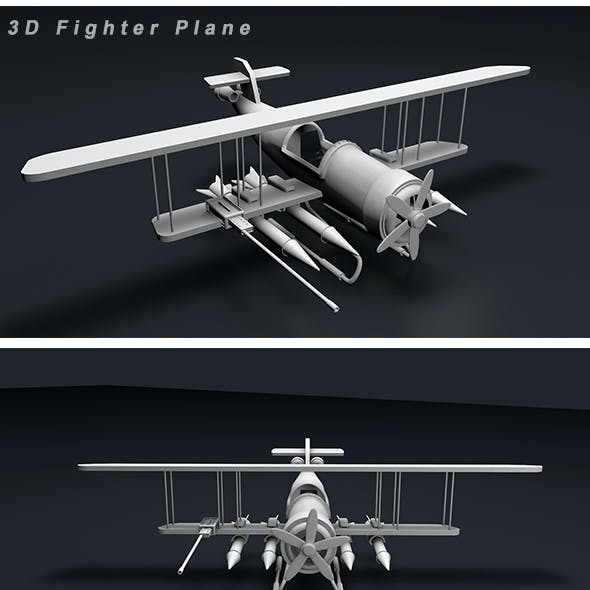 Fighter Plane 3d Modeling
