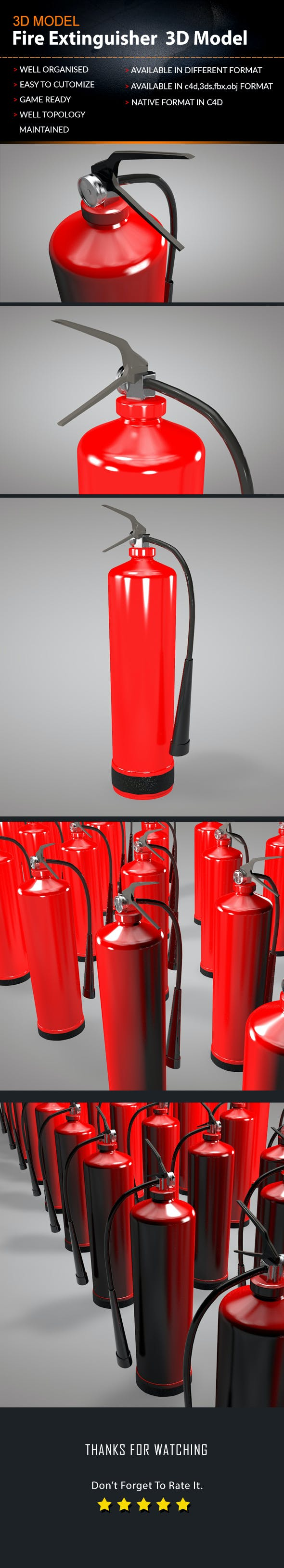 Fire extinguishe 3D model - 3DOcean Item for Sale