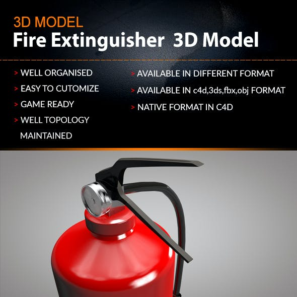 Fire extinguishe 3D model