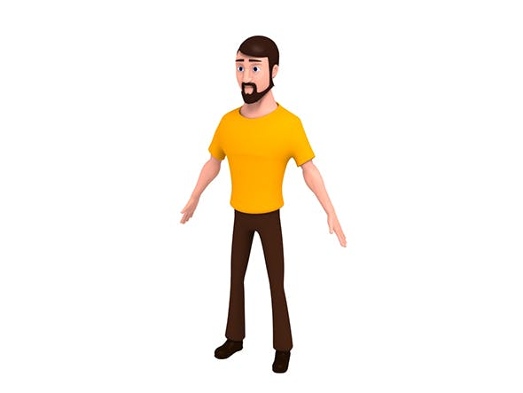 Cartoon Man - 3DOcean Item for Sale