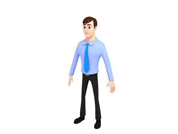 Cartoon Office Man - 3DOcean Item for Sale