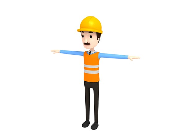 CartoonMan001 Engineer - 3DOcean Item for Sale