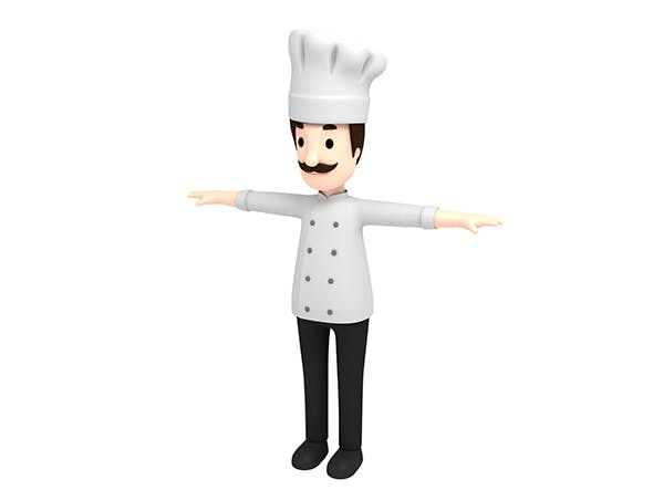 CartoonMan003 Chef - 3DOcean Item for Sale