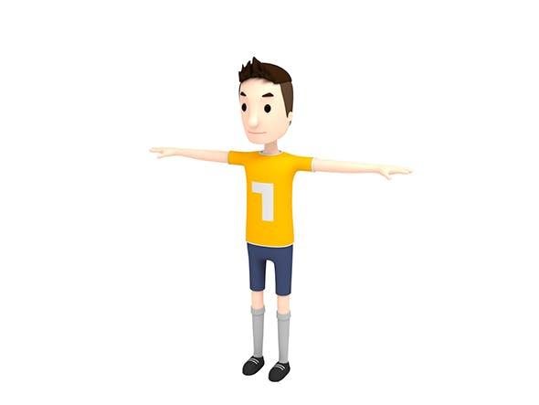CartoonMan005 SoccerPlayer - 3DOcean Item for Sale