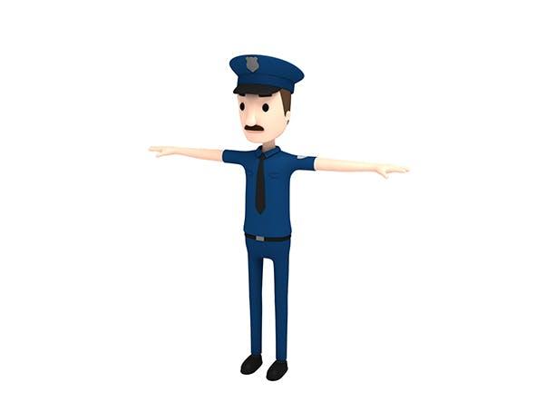 CartoonMan010 Police - 3DOcean Item for Sale