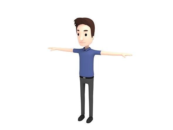 CartoonMan020 Man - 3DOcean Item for Sale