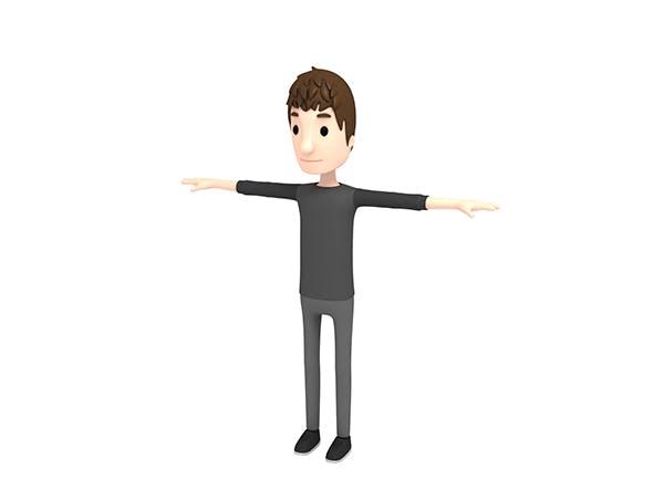 CartoonMan021 Man - 3DOcean Item for Sale