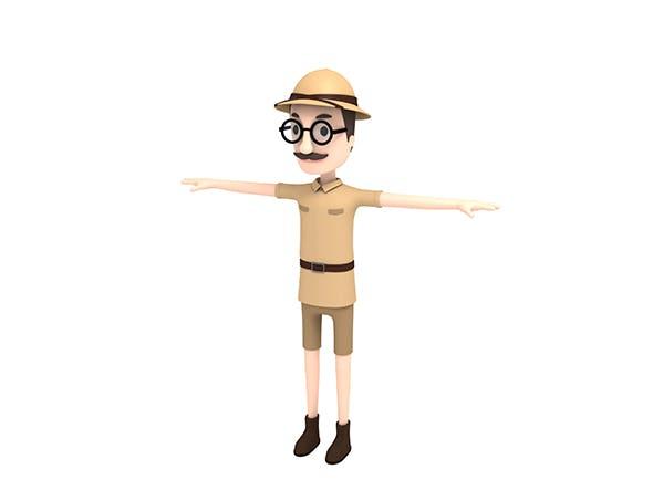CartoonMan023 Safari Man - 3DOcean Item for Sale