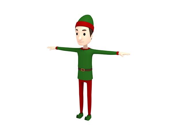 CartoonMan026 Elf - 3DOcean Item for Sale