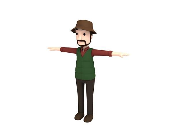CartoonMan027 Camping Man - 3DOcean Item for Sale