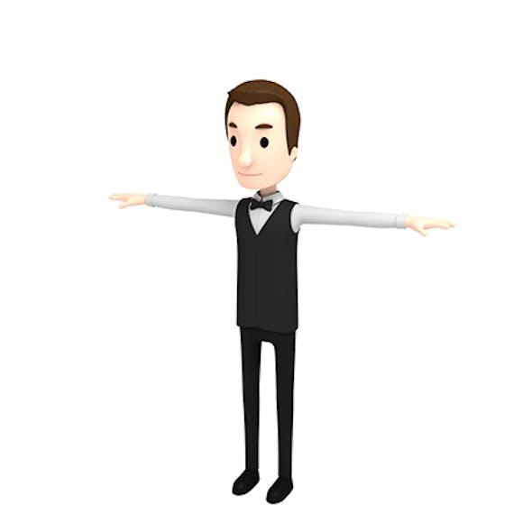 CartoonMan029-Waiter