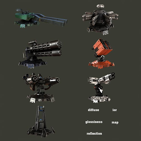Guns - 3DOcean Item for Sale