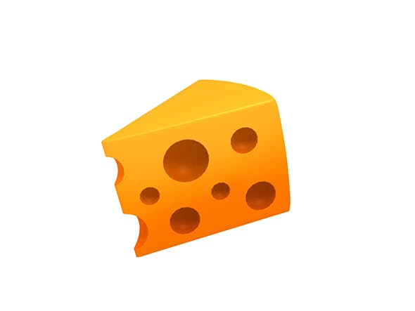 Cheese Low-poly - 3DOcean Item for Sale