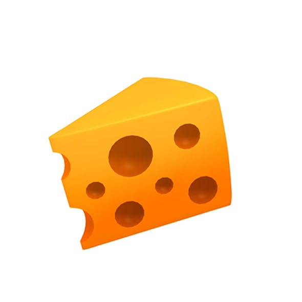 Cheese Low-poly