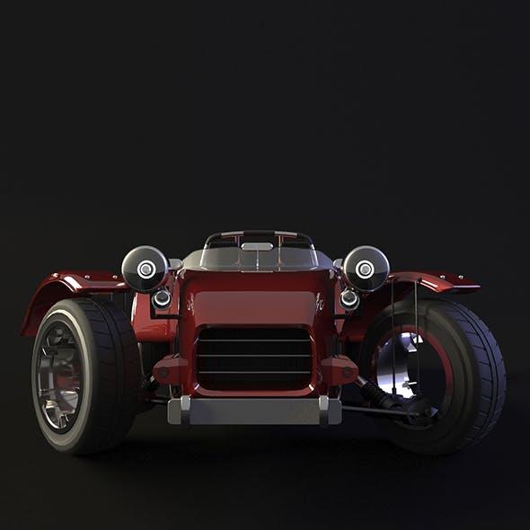 SportCAR-Rigged - 3DOcean Item for Sale