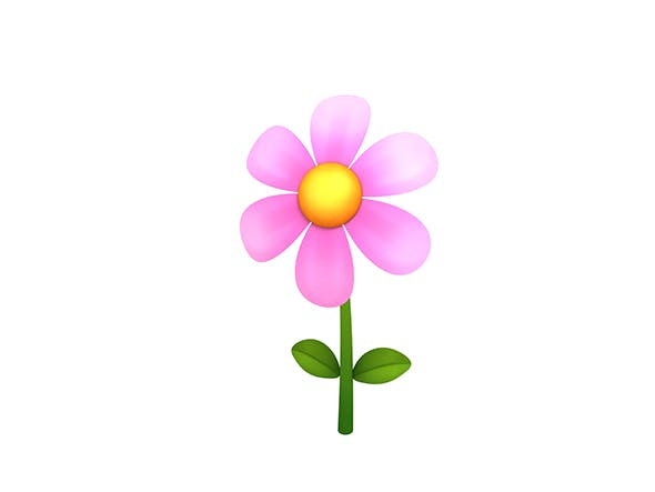 Low-poly Flower - 3DOcean Item for Sale