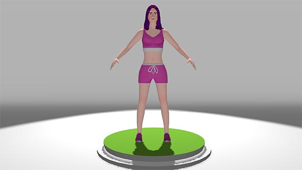 Lopoly 3d Models Female Sports - 3DOcean Item for Sale