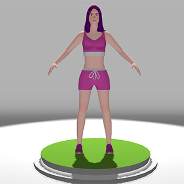 Lopoly 3d Models Female Sports