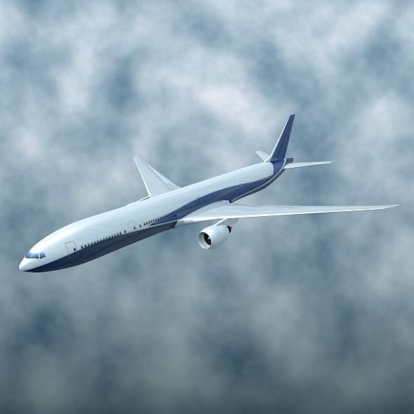 Boeing 777-300ER airliner - 3DOcean Item for Sale