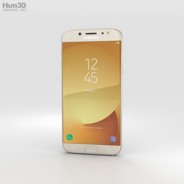 Samsung Galaxy J7 (2017) Gold - 3DOcean Item for Sale