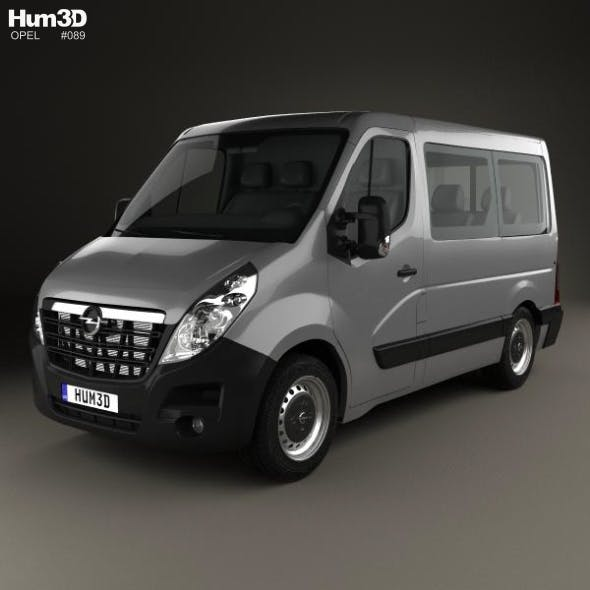Opel Movano Passenger Van L1H1 2010 - 3DOcean Item for Sale