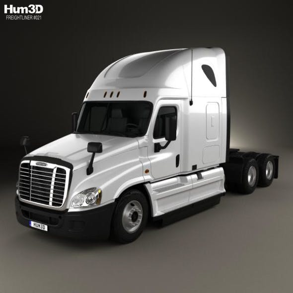 Freightliner Cascadia Sleeper Cab Tractor Truck 2007 - 3DOcean Item for Sale