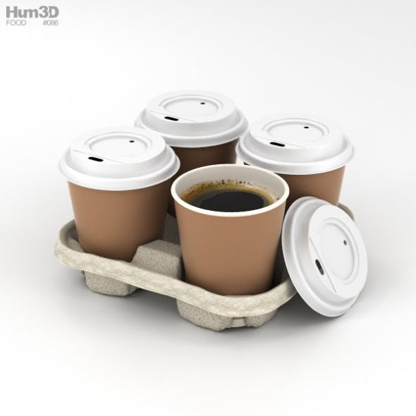 Coffee in Holder - 3DOcean Item for Sale