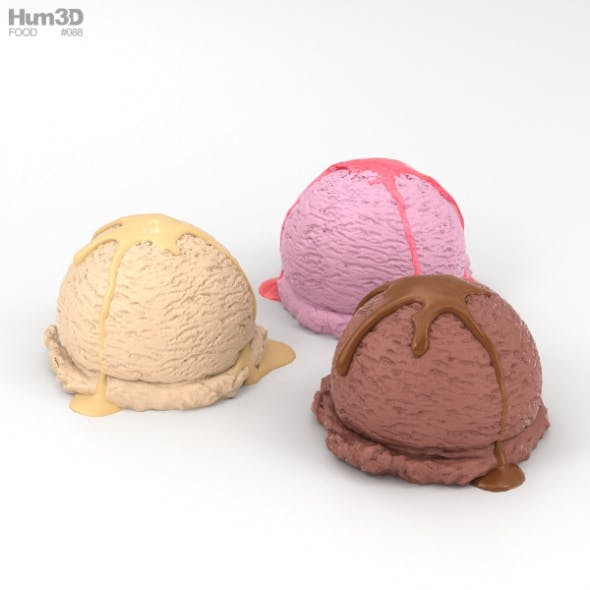 Ice Cream Balls - 3DOcean Item for Sale