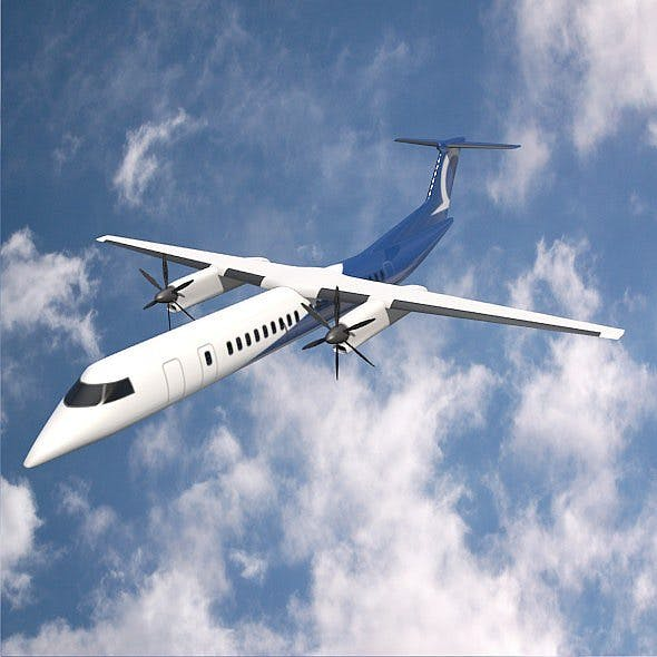 Bombardier Q400 commercial airplane - 3DOcean Item for Sale