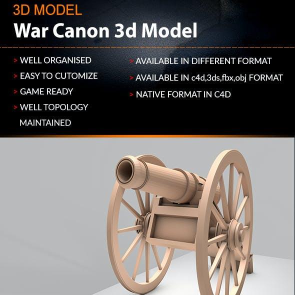 Old Artillery Cannon 3d Lowpoly Model