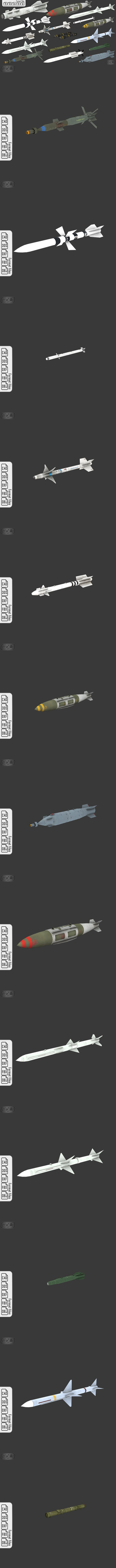 16 Missiles - 3DOcean Item for Sale