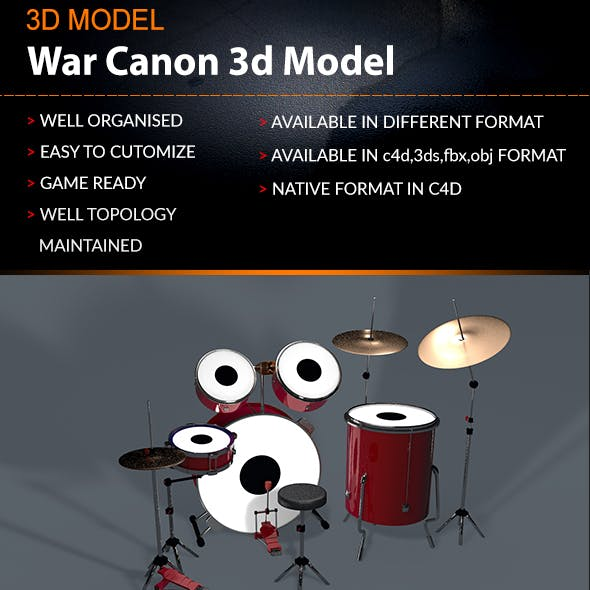 Drums Set 3D Model