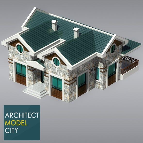 Architectural Home 3d Model OC-03 - 3DOcean Item for Sale