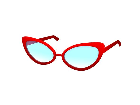 Cat Eye Glasses - 3DOcean Item for Sale