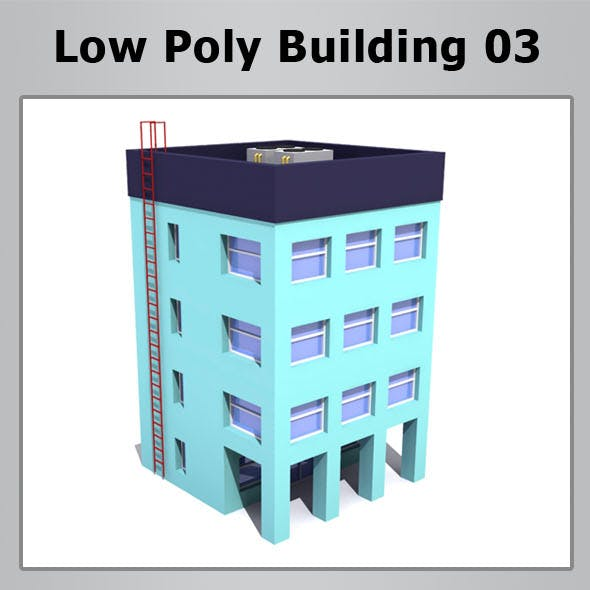 Low Poly Building 03