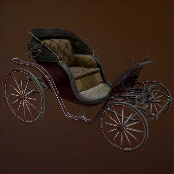 Low Poly Victorian Carriage