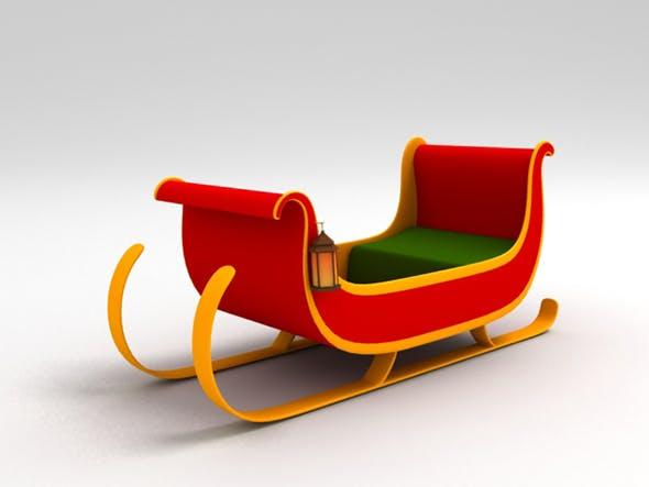 Santa Sleigh - 3DOcean Item for Sale