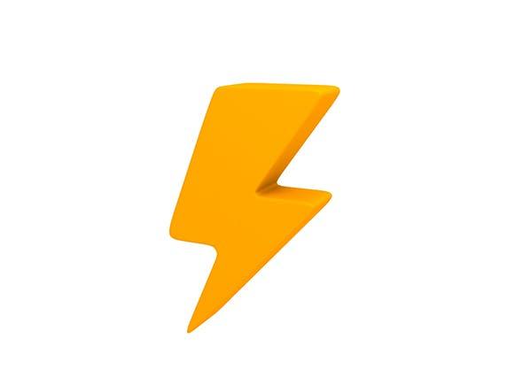 Thunder Symbol - 3DOcean Item for Sale